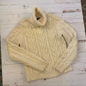 Cashmere angora blend Turtleneck sweater L